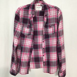 Aeropostale Plaid Buttoned Down Shirt